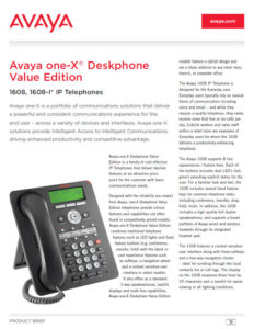 AVAYA 1608 Fact Sheet