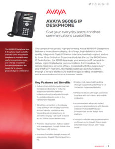AVAYA 9608 Fact Sheet