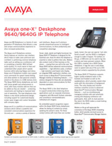 AVAYA 9640 Fact Sheet